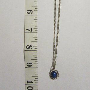 VINTAGE Girls' Blue stone Necklace